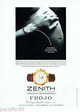 PUBLICITE ADVERTISING 125  1999   ZENITH horloger joailllier montre chronomaster