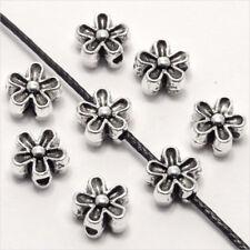 Lot de 40 perles Fleurs 6mm Métal style Tibétain