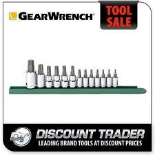 "GearWrench 1/4"", 3/8"", 1/2"" Drive 13 Piece TORX® Press Fit Bit Socket Set 80723"