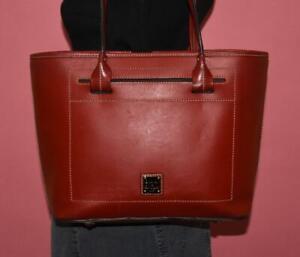 DOONEY & BOURKE BEACON Red Leather Shoulder Tote Purse Bag Shopper LRG Zip