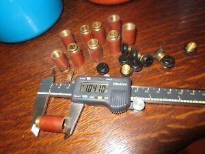 10 Motor Brush Caps External 3/8 Thrd Brass Insert W Guide,Holder for 1/4 x 1/4
