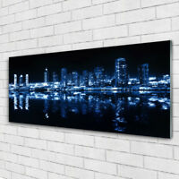 Glass print Wall art 125x50 Image Picture City Houses