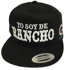 YO SOY DE RANCHO GUERRERO MEXICO HAT 2 LOGOS BLACK MESH TRUCKER SNAP BACK