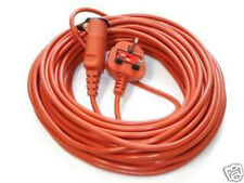 Flymo 20m Metre Power Cable Lead Plug Flex Orange Cabling Lawn Mower Electric