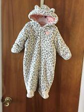 Little Wonders Pram Snowsuit w/ hide-away mittens -Leopard- Size 6/9 mo. NWT $30
