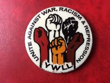 Pin Badge Button YWLL US COMMUNISM Unite Against War, Racism & Repression.Scarce