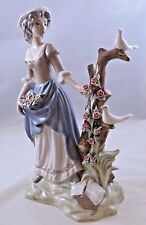 TENGRA  CHARMING YOUNG LADY WITH DOVES  RARE VINTAGE 100% PERFECT SPAIN