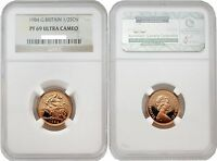 Great Britain 1984 1/2 Sovereign Gold NGC PF69 ULTRA CAMEO