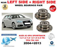 FOR AUDI A3 REAR WHEEL BEARINGS PAIR 2004-2013 8PA SPORTBACK LEFT and RIGHT