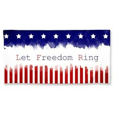 """Let Freedom Ring Stars And Stripes 30""""X60"""" Spectra Beach Towel New Wincraft"""