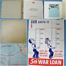 WWII 5th War Loan Bond Drive Book - Office Chief of Engineers Flight to Tokyo
