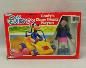 Vintage ARCO Disney Goofy's Dune Buggy Playset 6196 OPEN BOX COMPLETE