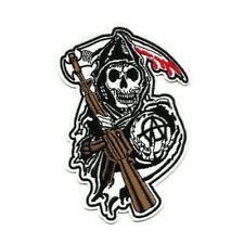 Ecusson SONS OF ANARCHY 9x13cm faucheuse reaper grim Patch Parche Toppa Aufnäher