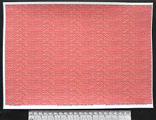 O gauge (1:48 scale) red-orange brick -  self adhesive vinyl - A4