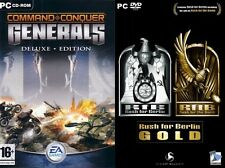 command & conquer generals deluxe (includes zero hour) & rush  for berlin gold