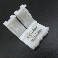 4x Conector recto para empalme tira led  sin soldadura  3528 2pin 8mm