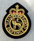 Post-WWII British Civil Defense Corps Lion Crown Patch Badge Insignia 1953 & On