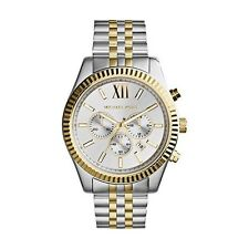 NEW MICHAEL KORS MK8344 TWO TONE LEXINGTON CHRONOGRAPH WATCH - 2 YEAR WARRANTY