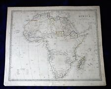MAP AFRICA London c 1850 Big nice shape antique whole continent Madagascar  SDUK