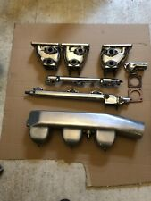 Polished Triple Carb Inlet Manifold With Air Intake for 3.8 Mk 10 Jaguar.