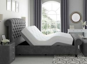 DREAMS Ellis 5ft King Dark Grey Bedframe With Sleepmotion 400i (Was £799)