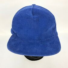Vintage Corduroy Hat Mens Blue Snapback 100% cotton Dad Grandpa Hat
