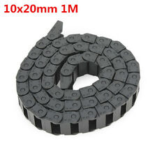 10x 20mm Plastic Cable Arrastrar Chain Hilos Carrier Longitud 1000mm Para CNC