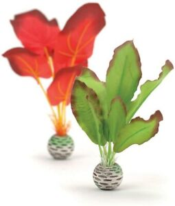 Oase Biorb Easy plant set Green & Red small weighted Silk Aquarium 9-10 inch