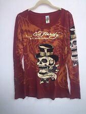Ed Hardy Skull L/S Tee Tshirt Shirt Medium M Top