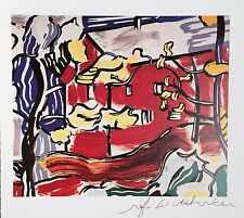 ROY LICHTENSTEIN * RED BARN THROUGH THE TREES PRINT HAND SIGNED SIGNATURE W/COA