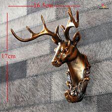 Deer Head Statue Animal Miniature Wall Stab Coat Holder Key Hanger Home Decor