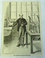 1882 magazine engraving ~ The Weighing Office in the BANK OF ENGLAND