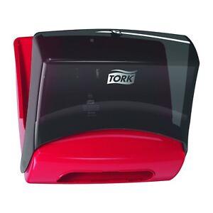 Tork Folded Wiper and Cloth Dispenser Black / Red