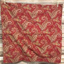 Pottery Barn Mira Anibel Paisley Euro Pillow Sham Cotton Red Green Gold Lovely