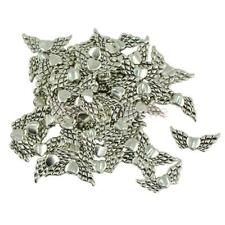 50pcs MagiDeal Heart Angel Wings Charms Beads Finding DIY Jewelry Making