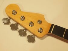 All Parts Ebony Neck for vintage Fender Precision/Jazz Bass Jeo/oil F w/Tuners