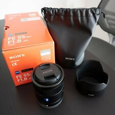 Sony Zeiss Sonnar T FE 55mm F/1.8 Lens (Mint Condition, Orig. Box and Accessor.)