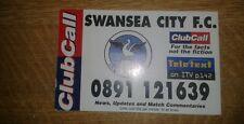 Swansea City Club chiamata CARD 1997-98 impianti sul retro