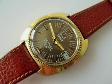 GOLD Capped Gent'S Retro ROAMER Searock Electronic orologio da polso 612