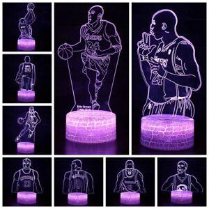 NBA-Star Tischlampe Nachtlicht Nachttischlampe Geburtstag Gift LED 7 Farbe 3D
