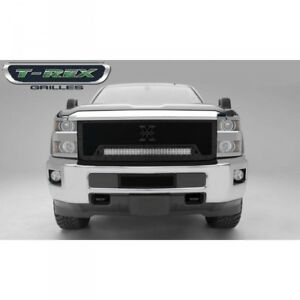 15-18 CHEVY SILVERADO HD T-REX STEALTH TORCH SERIES BLACK 1-PIECE LED GRILLE.