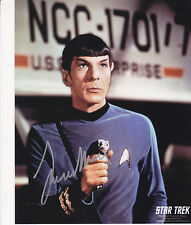 LEONARD NIMOY MR. SPOCK SIGNED 8X10 COLOR PHOTO STAR TREK AUTOGRAPH