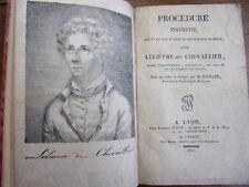 """INFANTICIDE / PROCÉDURE CONTRE LELIEVRE DIT """" CHEVALLIER"""" M.Boulée 1837"""