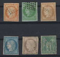 G139401/ FRENCH COLONIES – YEARS 1871 - 1878 USED CLASSIC LOT – CV 130 $
