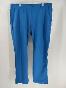 Size 40 x 30 Under Armour 1342264-446 Mens Blue Match Play Tapered Golf Pants