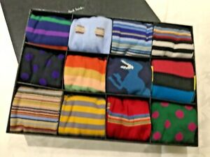 NEW PAUL SMITH GIFT BOX OF SOCKS 12 MADE IN ITALY OR ENGLAND