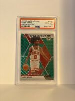 2019-20 Mosaic Coby White RC Rookie Green Prizm NBA Debut #264 PSA 10 GEM MINT