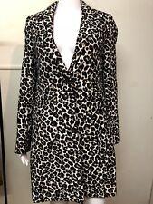 Portmans Leopard Print Coat Black and White Size 8