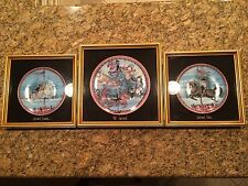"""P. Buckley Moss """"The Carrousel Triptych"""" Limited Edition Plate Set -Glass Framed"""