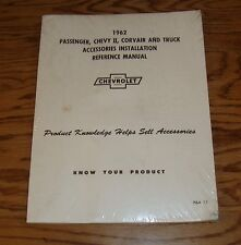 1962 Chevrolet Car & Truck Accessories Installation Reference Manual 62 Chevy